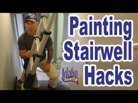 Captivating PAINTING A STAIRWELL. Handyman Hacks Painting In High U0026 Tight Spaces.