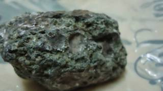 Kimberlite rock with precious stone and diamond natural ore also found