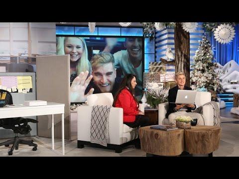 Ellen's Skybox Skype Surprise