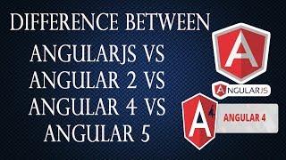 Difference between AngularJS vs Angular 2 vs Angular 4 vs Angular 5 in Hindi