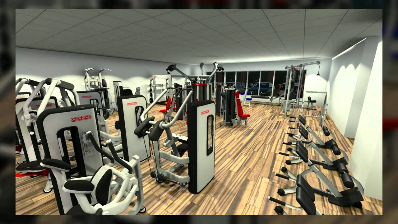 Gym 3D Walkthrough Star Trac ECDESIGN YouTube