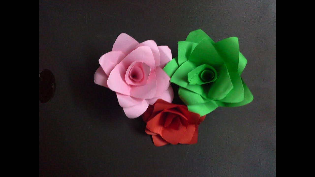 How To Make A Paper Flower Paper Crafts Diy Valentine Flower