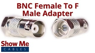 BNC Female to F Male Adapter #906