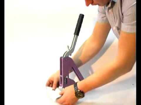 Установка люверса на прессе ТЕР-1 - YouTube