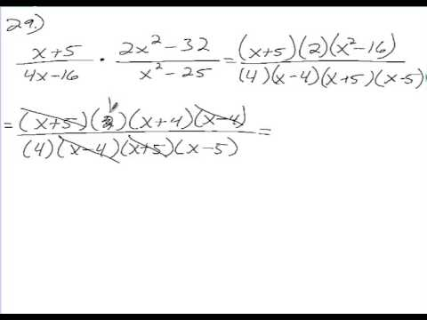 Algebra 2 Chapter 8 Section 4 Homework Multiply And Divide Rational Expressions