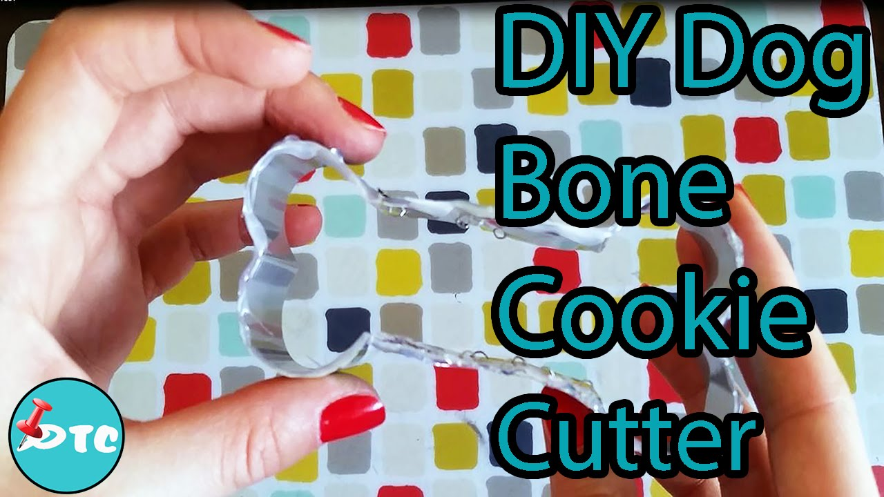 Make A Dog Bone Shaped Cookie Cutter