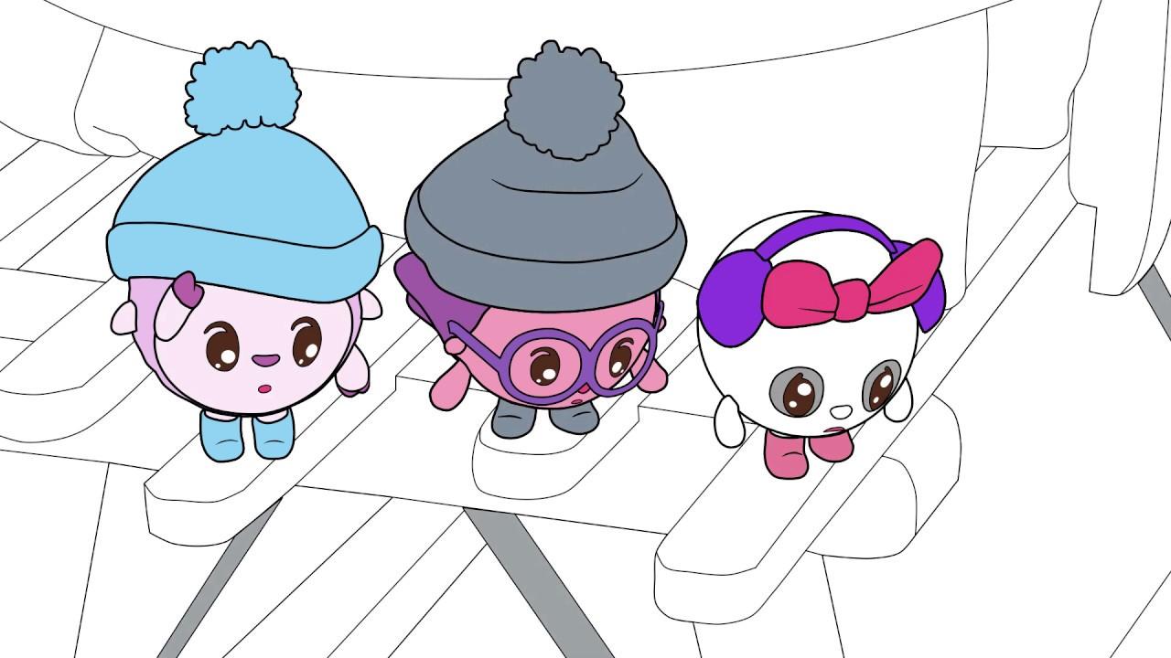 Малышарики - Раскраска для детей - Снег | Развивающие ...