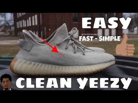 CLEANING YEEZY BOOST 350 (EASY)(MUST WATCH)