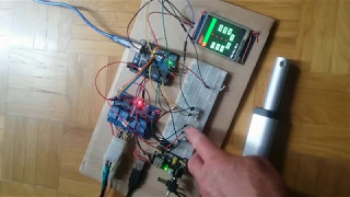 position controlled linear actuator with arduino neodymium magnet and hall sensors