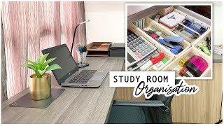 NEW! HUGE STUDY ROOM DECLUTTER & ORGANIZATION