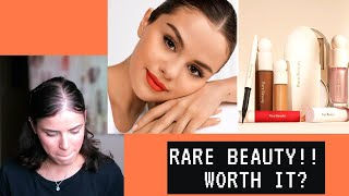 RARE BEAUTY BY SELENA GOMEZ! My Honest First Impression |from a non sponsored/just a normal person