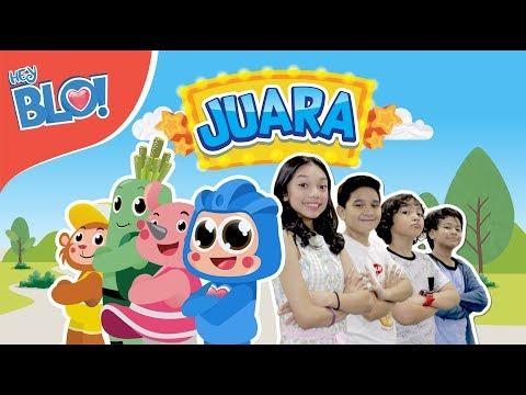 JUARA (Lyric Video) - OST. Film Naura & Genk Juara | HEY BLO!