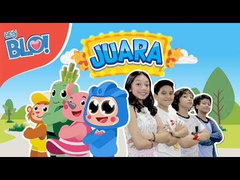 JUARA (Lyric Video) - OST. Film Naura & Genk Juara | HEY BLO!
