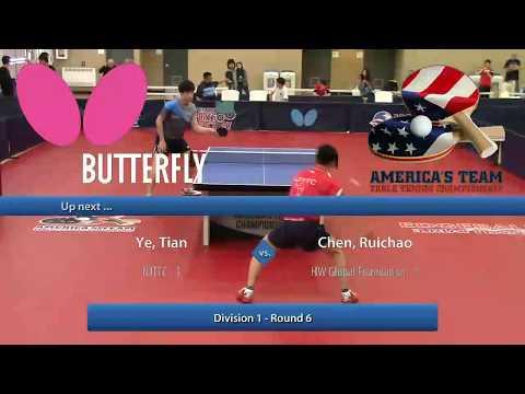 2017 Butterfly America's Team Championship - Ye Tian (2611) vs Ruichao Chen (2667)