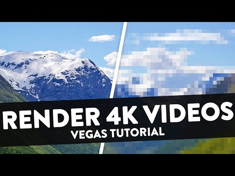 How To Render 4K Videos for YouTube 2018 (NVENC GPU Acceleration) - Sony Vegas Pro 15 Tutorial #23