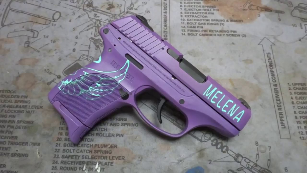 Ruger Lc9 With Robins Egg Blue Amp Custom Iridescent Purple