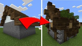 BUILDING TIPS! How To Detail a Simple House in Minecraft Pocket Edition!