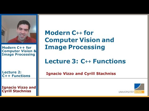 Modern C++: C++ Functions (Lecture 3, I. Vizzo, 2020)