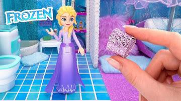 Construction d'un mini appartement magique pour la reine Elsa de Disney ❄️
