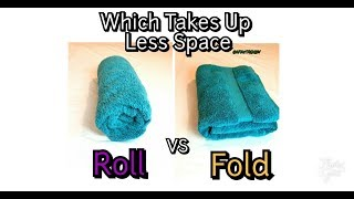 How to Fold and Roll Towels(Which Saves Space?) CPR4THEBODY