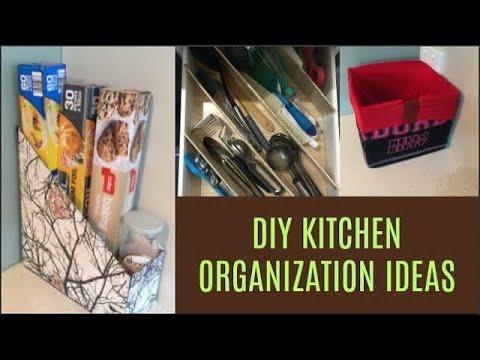 DIY kitchen organization ideas | organize kitchen without spending money | money savin