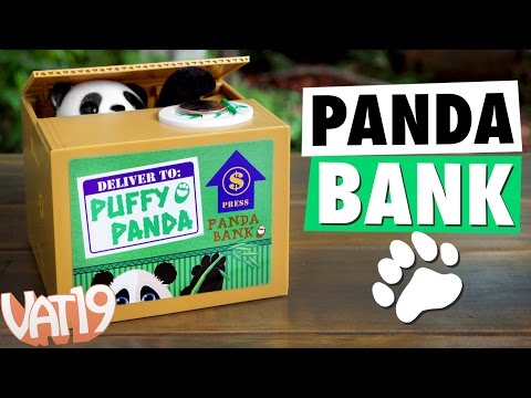 The Puffy Panda Piggy Bank will steal your coins, and it is the cutest.