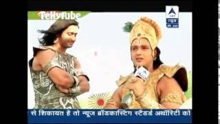 SBS segment #mahabharat saurabh raaj jain with shaheer sheikh