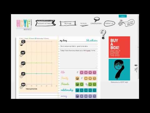 How to make entries in your online Diary at How do You feel