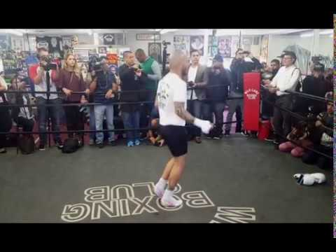 Miguel Cotto Full Media Workout; Hand Pads With Freddie Roach Is Great.