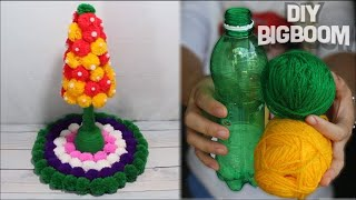 How to make Flower Vase with Wool (Best Idea 2018) | 2 | DBB