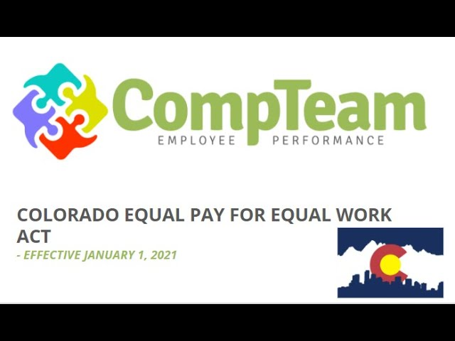 Colorado Equal Pay Discussion