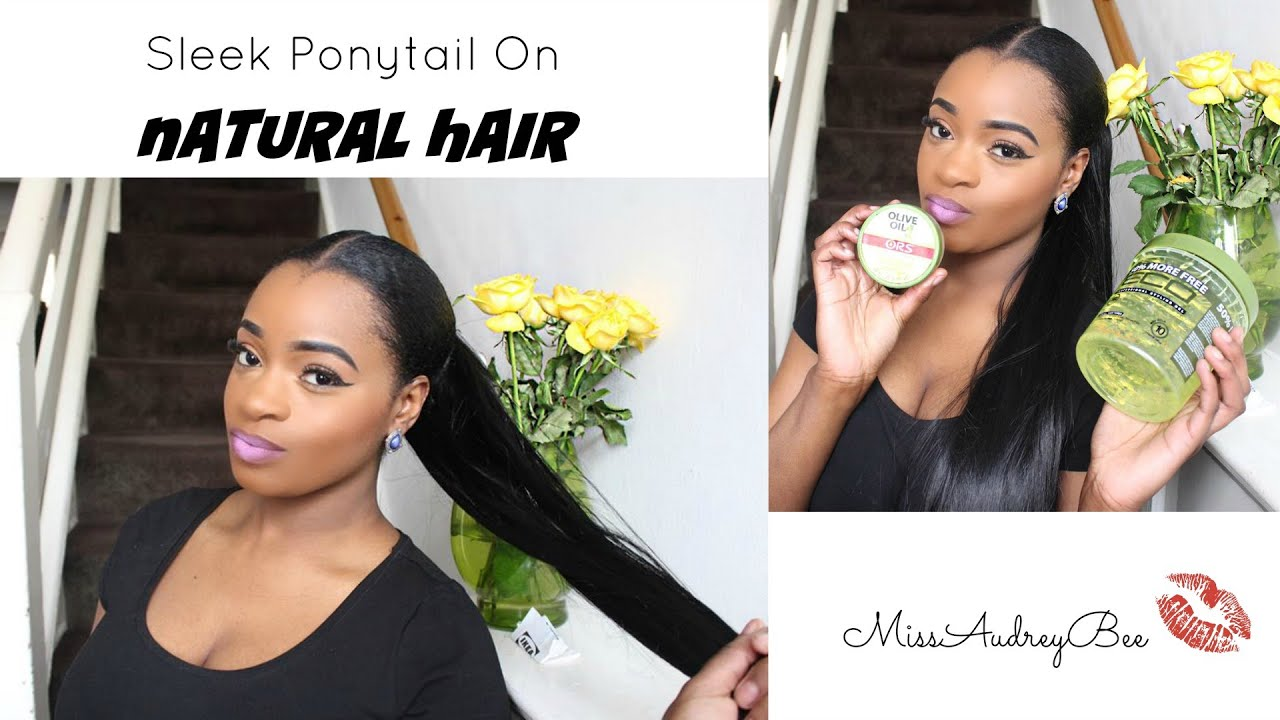 Sleek ponytail on natural hair youtube pmusecretfo Image collections