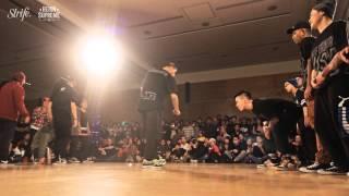 underground flow gangz vs art of movement   strife   reign supreme 2013 crew   1st rd