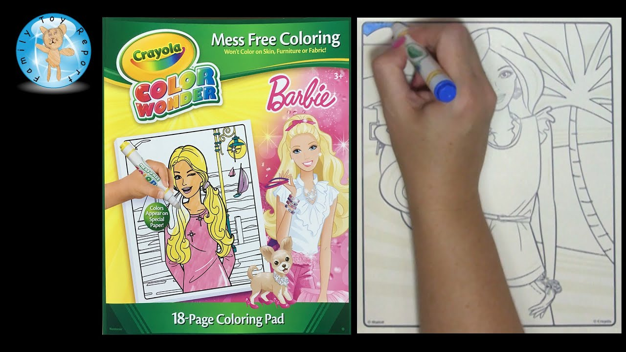 Crayola Color Wonder Barbie Coloring Book Beach Family Toy