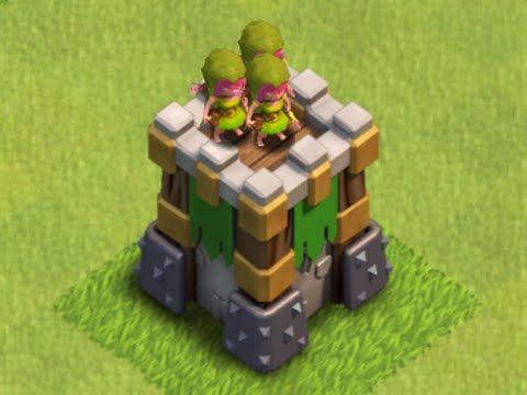 Clash of clans: 4 epic raids, archer tower lvl 10, and clutch dragons