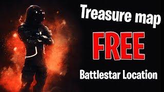 Fortnite FREE battle star location! week 3   salty springs treasure map location