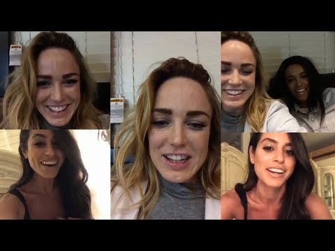 Caity Lotz with Maisie RichardsonSellers   Instagram Live Stream  3 November 2017