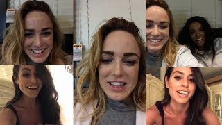 Caity Lotz with Maisie Richardson-Sellers  | Instagram Live Stream | 3 November 2017