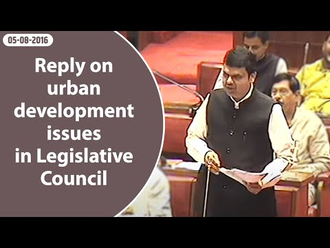 CM Devendra Fadnavis reply on urban development issues in Legislative Council.