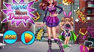 NEW мультики для девочек про принцесс—Одевалка Супер Мама—Игры для детей/Super Mom Dressup