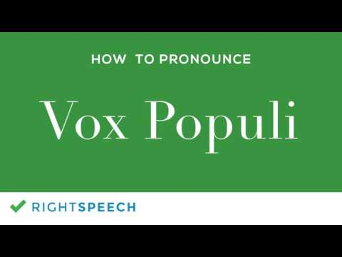 Vox Populi How To Pronounce Vox Populi Youtube