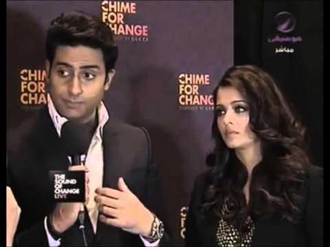 Aishwarya Rai & Abhishek Bachchan interview at the Chime for Change