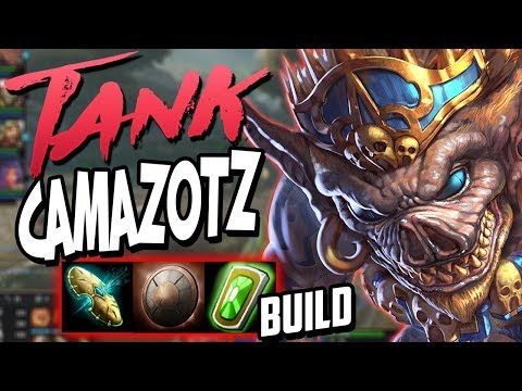 Smite: Tank Camazotz Build - THIS BUILD IS DISGUSTING ON CAMAZOTZ!