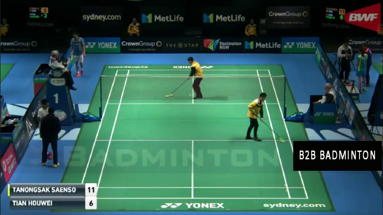 TIAN Houwei vs Tanongsak SAENSOMBOONSUK Badminton 2017 Australian