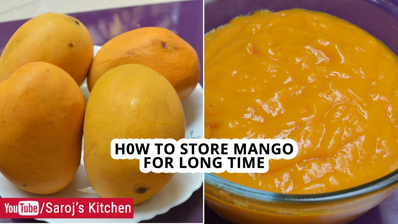 How To Store Mango For Long Time How To Freeze Mangoes Mango Freezing Tips Youtube