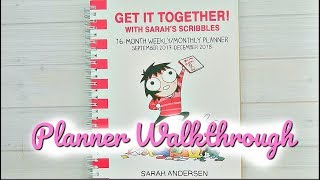 Sarah's Scribbles Planner Walkthrough