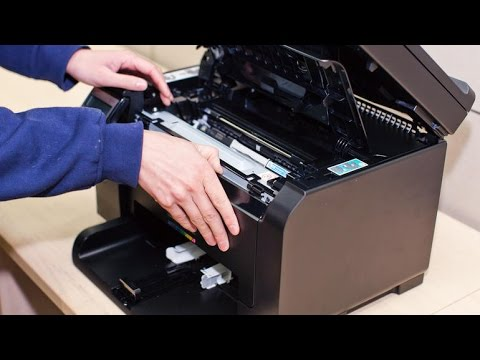 Hp Laserjet 100 Color Mfp M175nw Replace Chip Drum Youtube