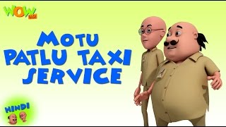 Motu Patlu Taxi Service - Motu Patlu in Hindi - 3D Animation Cartoon for Kids - As on Nickelodeon