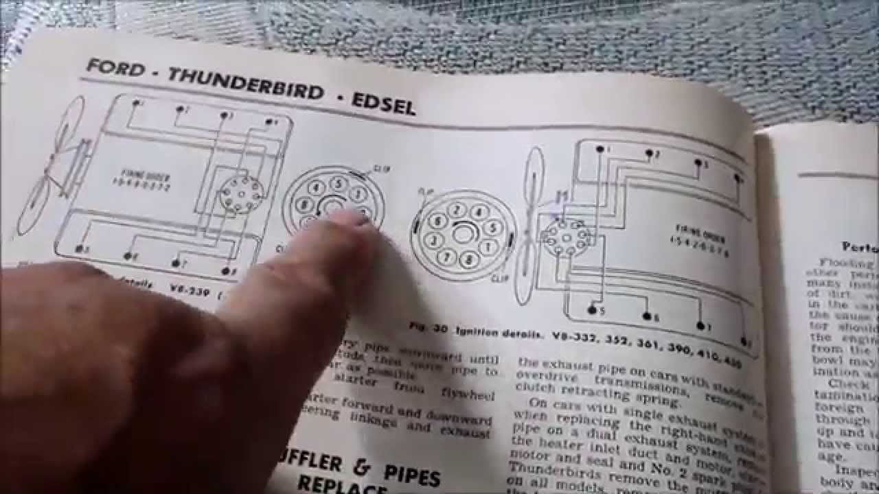 65 T Bird Wiring Diagram Timing Chain Y Block Ford Timing Youtube