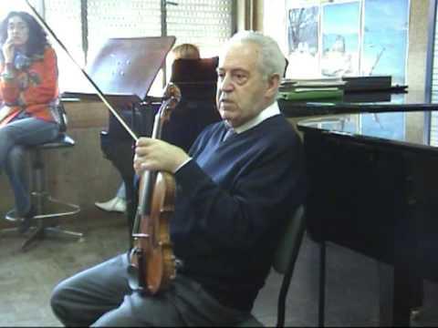Conversaciones con el gran violinista Félix Ayo. El miedo escénico